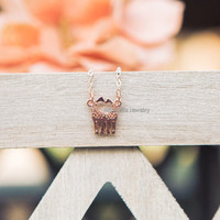 Giraffe Necklace - 3 colors available (rose gold, gold and silver) - dainty, cute and lovely jewelry