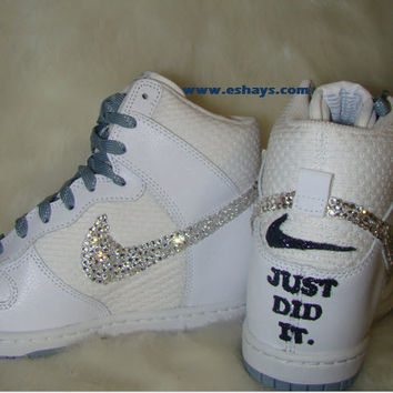 Wedding Custom Nike Dunk Sneakers Just Did It