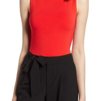 Halogen® Jersey Funnel Neck Top (Regular & Petite) | Nordstrom