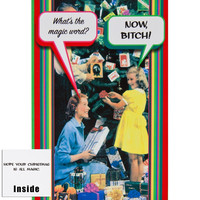 Now Bitch Christmas Card