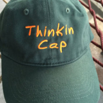 Thinkin Cap - Forest Green w/gold lettering