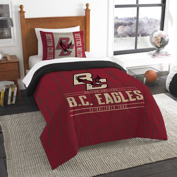 "Boston College OFFICIAL Collegiate, Bedding, ""Modern Take"" Twin Printed Comforter (64""x 86"") & 1 Sham (24""x 30"") Set  by The Northwest Company"