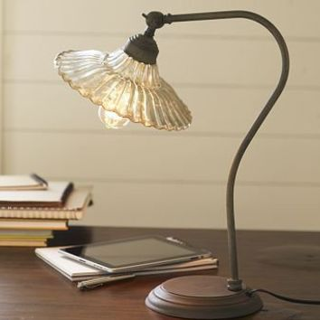 Whitney Fluted Glass Task Table Lamp $149