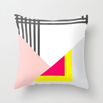 Memphis Milano Throw Pillow by Xchange Studio