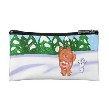 Snow Puppy Cosmetic Bag