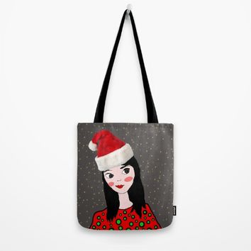 Christmas with you | Kids Painting | Only Love by Elisavet Tote Bag by Azima