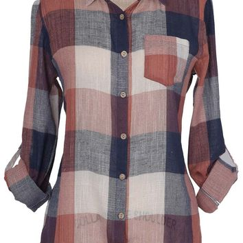 Cupshe A Day In Paradise Plaid Shirt
