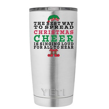 YETI The Best Way to Spread Christmas Cheer 20 oz Tumbler Cup