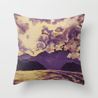 Throw Pillow Cover 16' x 16' Indoor - Purple Mountain