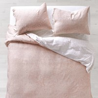 Dusty Rose Chloe Medallion Duvet Cover and Sham Set