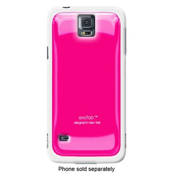 Exofab - Gel Case for Samsung Galaxy S 5 Cell Phones - White/Pink