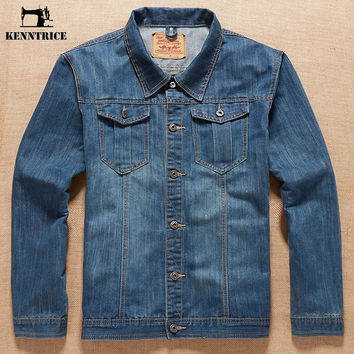 Men Causal Jeans Spring Jacket Coats Plus Size Brand Fashion Outerwear Male Denim Jackets Boyfriend Gift Jacket