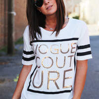 Vogue Couture Sequin Tee