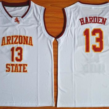 13 James Harden Arizona State Throwback Retro College Basketball Jersey Stitched any Number New Material Top quality embroidery