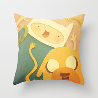 Adventure Time! Throw Pillow by CodiBear