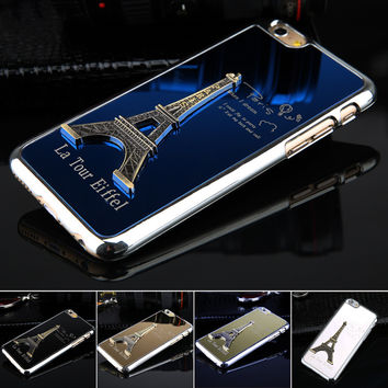 Free shiping 1pcs Metal Phone Cases for iphone 6 4.7 inch Hot Luxury Eiffel Tower Model Protective phone Back Housing Low Price