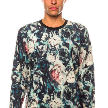 Shades of Grey Neoprene Crewneck Floral Sweater