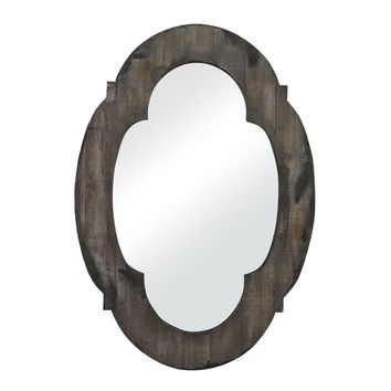 Berkely Hill Mirror Aged Wood,Hand Rubbed Gold