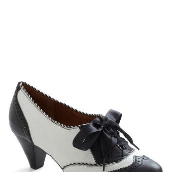 Poetic License Shoeful of Sugar Heel in Black & White | Mod Retro Vintage Heels | ModCloth.com