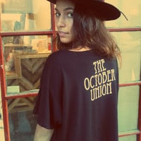 The October Union Boxy Shirt - Black