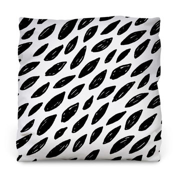 Naturally Black & White Throw Pillow
