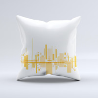Abstract Yellow Skyline View ink-Fuzed Decorative Throw Pillow