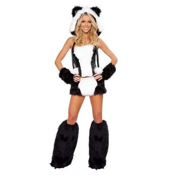 halloween sexy costume faux fur costume Women's Bear Animal Cosplay carnival Fancy out fit with leg warmer w1202