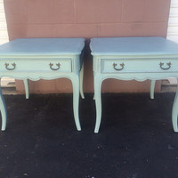 Vintage French Provincial Side Tables /Nightstands by Century Matching Set