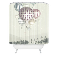 Belle13 Winter Dreamflight Shower Curtain