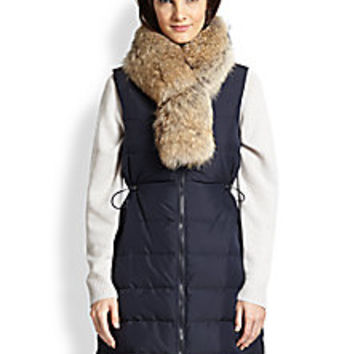Theory - Womira Fur-Collar Down Puffer Vest - Saks Fifth Avenue Mobile