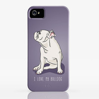 I Love My Bulldog Smart Phone Case - iPhone 4 or 5, iPod & BB