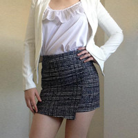 High-Waisted Gingham Bodycon Skirt