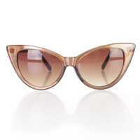 Copper Tinted Cat Eye Sunglasses