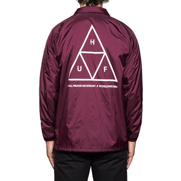 HUF - TRIPLE TRIANGLE COACHES JACKET // WINE
