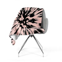 "Nika Martinez ""Tie Dye Rose"" Pink Abstract Fleece Throw Blanket"
