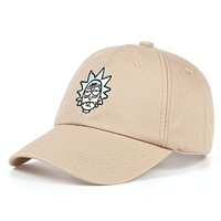 Rick and Morty Classic Rick Black & Khaki Embroidered Cotton Dad Hat