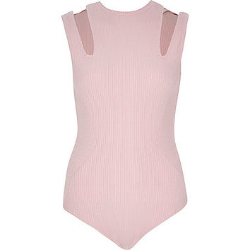 Light pink cut-out bodysuit