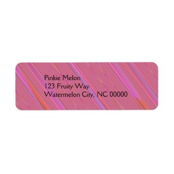 Diagonal Pink Abstract Pattern Label