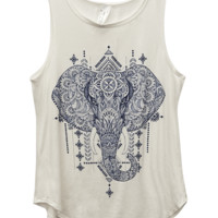 Painted Elephant Tank | Wet Seal