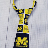 University of Michigan Neck Tie Various Sizes. Ann Arbor Michigan