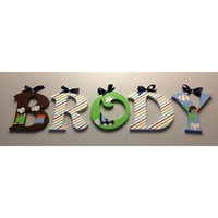 TIDDLIWINKS COME RIDE WITH ME INSPIRED HAND PAINTED WOOD WALL LETTERS