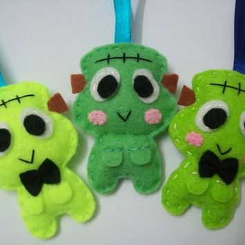 Cute Halloween Ornament/Keyring/Plush Frankenstein