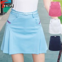 women golf skirt lady outdoor golf skorts shorts golf apparel breathable sports shorts slim skirts 4 colors s~xxl