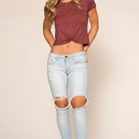 Hey There Distressed Jeans