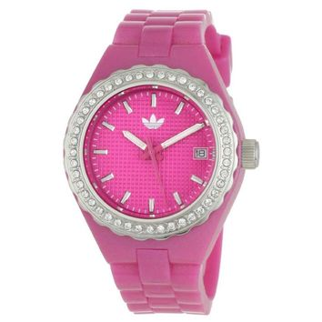 Adidas ADH2106 Women's Cambridge Pink Plastic Polyurethane Strap Crystal Watch