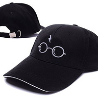 Harry Potter Glasses Juniors Logo Adjustable Baseball Caps Unisex Snapback Embroidery Hats