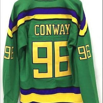 Fast ship Mighty Ducks Movie Jersey #96 Charlie Conway Hockey Jersey Stitched