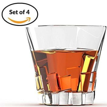 Willow amp Everett Set of 4 Cubed Shaped Whiskey Glasses Pack of 4