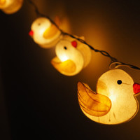 SALE Super Cute Duck Fairy String Light - 20 Duck Lights Fairy lights Party Decor Wedding Garden Spa and Holiday Lighting
