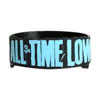 All Time Low Blue Logo Rubber Bracelet